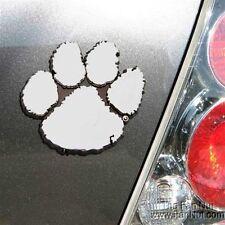 Clemson Tigers Silver Chrome Color Auto Emblem Decal Football University of