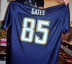 NFL San Diego Chargers Antonio Gates #85 Navy Blue Reebok Jersey Size XL Mens