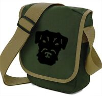 Patterdale Terrier Face on Mini Reporter Bag Dog Walker Shoulder Bags Xmas Gift