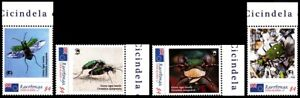 RAROTONGA Cook Isl 2013 FAUNA World of Wildlife Insect Tiger Beetle, MNH