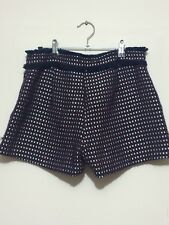 Made In Korea Red White Blue Cross Stitching Shorts Pants W zip On Side (M)