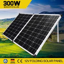 300W 12V Folding Solar Panel Kit Caravan Camping Power Mono Cells With Dual USB