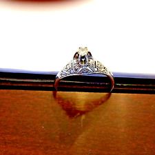 Engagement ring  SET(HIS AND HERS) diamonds. white gold