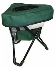 Reliance Tri-To-Go Folding Chair Toilet, Green Camping 2'H, Portable Case Sock
