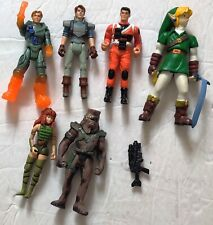 Lot Of 6 Assorted Loose Action Figures Chewbaca Zelda Action Man And More