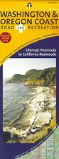Map of Washington & Oregon Coast Road & Recreation, by Great Pacific Maps