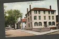 1908 post card Portland Maine birthplace Longfellow to Mattie Clark Greenwich MA