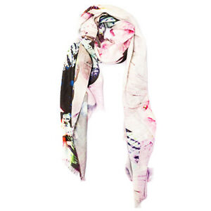 SOFT FEEL BAMBOO AND COTTON PRINTED SQUARE SHAWL - NEW TRAVEL WINTER WARMER