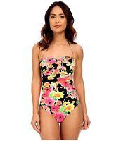 Ralph Lauren Size 8 Brilliant Floral Bandeau Slimming Maillot Swimsuit NWT $98