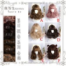 6Color Harajuku Kawaii Gradient Mixed Lolita Daily Gothic Short Curly Hair Wig #