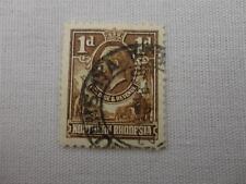 Vintage Northern Rhodesia 1 D Postage Revenue Stamp