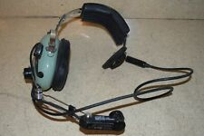DAVID CLARK HEADSET MODEL H3391- WITH M-1/DC AMPLIFIED DYNAMIC (CC)
