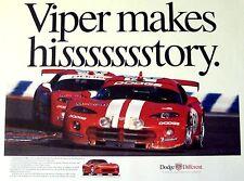Dodge Viper GTS 24 Hours of Daytona Makes History Collectors Poster Win Racing