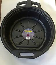 Pro 16 Litre Waste Oil Pan Coolant Fuel Fluid Drain Tray Bucket auto tool