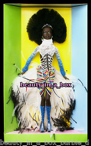 "MBILI Barbie Doll Treasures of Africa Byron Lars African American AA VG """