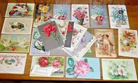 30 Antique Birthday Greetings Postcards