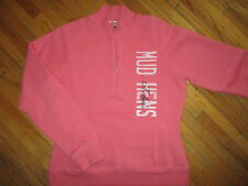 TOLEDO MUD HENS SWEATSHIRT Jacket Zip Neck Pullover Baseball Pink Womens MEDIUM