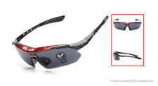 Mens ROBESBON Sunglasses RED Cycling Bike Running Sports Case Cloth Neck Strap
