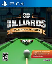 3D Billiards: Billiards & Snooker [Sony PS4 PlayStation 4, Pool, PQube] NEW