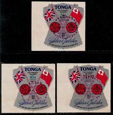 British Colony KINGDOM OF TONGA 1977 Strange Shape Stamps - QE Silver Jubilee