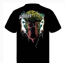 The Human Abstract Men's Brain Waves T shirt  M- L- XL -XXL Black NEW
