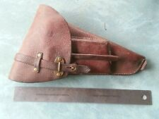 Swedish/Finnish Lahti Brown Pig Skin Leather Holster