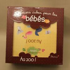 Premiers cubes pour les bébés - Fleurus Au zoo - jeu éveil + livre Très bon état