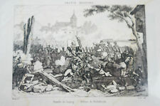 Libro de impresión página Napoleón batailles de Leipzig Malene (n117)