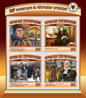 Central African Rep 2017 MNH Reformation 500th Anniv Martin Luther 4v M/S Stamps