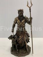 HADES - RULER OF GREEK UNDERWORLD WITH CERBERUS Statue Sculpture figurine