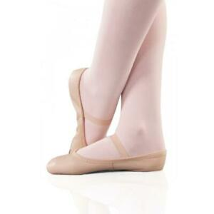 HALF PRICE - 1st Position Leather Full Suede Soled Ballet Shoe