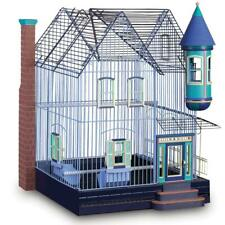 "Featherstone Heights Victorian House Style Bird Cage 25"" with 2 Perches, Cups"