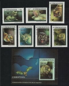 Uzbekistan Bats 7v+MS 2001 MNH SG#273-MS280 MI#277-272+Block 26 CV£17.30