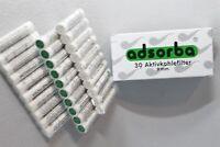 Päckchen mit 30 St. ADSORBA  Aktivkohlefilter - 9 mm - NEU & ovp - 101231