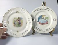 Two Vintage Children's Plates - Wedgwood Peter Rabbit and Girls