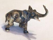 Antique Fine Cast Miniature Austrian Vienna Cold Painted Bronze Elephant