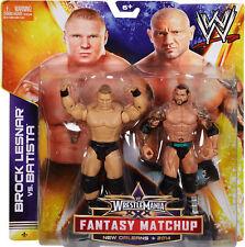 WWE Wrestlemania 30 Fantasy Matchup__BROCK LESNAR vs. BATISTA 6 inch figures_MIP