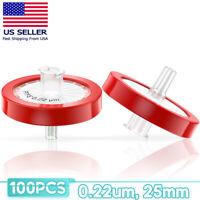 10-100x HPLC PTFE Syringe Filter, 25mm Diameter, 0.22 um Pore Size, Hydrophobic