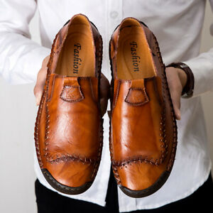 Mens Wide Fit Shoes Leather Casual Formal Smart Moccasin Driving Shoes Size UK12