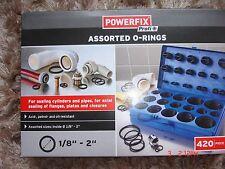 """POWERFIX Assortiment de joints toriques -420 pieces set-étanchéité cylindres et tuyaux -1/8 - 2"""""""