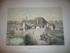 GRAVURE 1850 STRASBOURG AVENUE DE LA CITADELLE A. MUNCH