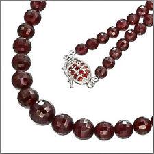 185CT Garnet Necklace In Sterling Silver Grade A #90008