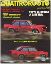 QUATTRORUOTE 3/1976 VOLKSWAGEN POLO – OPEL ASCONA 1200 SL / 1600 SR