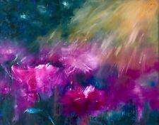 Flowers signed original oil painting on canvas Fine Art