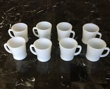 Lot 8 Anchor Hocking & Fire King White Coffee Mugs