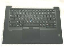OEM Dell Latitude 7480 Keyboard Palmrest Touchpad Fingerprint Card Reader 6FJX9