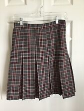 R/K Challenger Plaid Girls Box Pleated Uniform Skirt Size G10 Regular Nwt