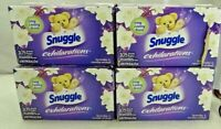 Snuggle Fabric Softener Dryer Sheets Lavender & Vanilla Orchid (4 Pack) T3