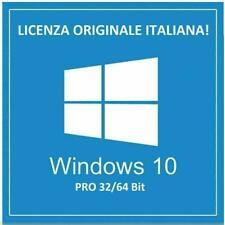 Licenza Windows 10 Pro professional 32/64 bit codice attivazione key ESD license