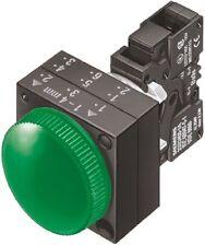 Spia Siemens 3SB3 244-6AA40, a led,24 v - verde